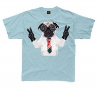 Kids Goggle Eyes Pug T-Shirt