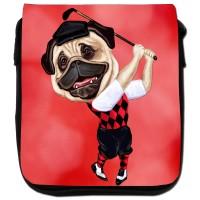 Pug Golfer Messenger Bag