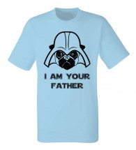 Mens I Am Your Father Pug Star Wars T-Shirt (Available in 6 colours)