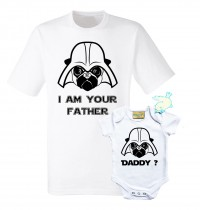 Fathers 7 Baby Pug I Am Your Father Star Wars Matching Set