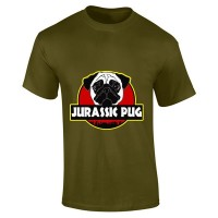 Mens Jurassic Pug T-Shirt (Available in 14 colours)
