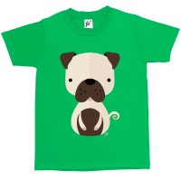 Kids Geometric Pug T-Shirt (Available in 6 colours)