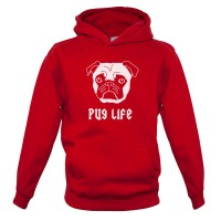 Kids Pug Life Hoodie (Available in 6 colours)
