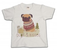 Child's Pugs & Kisses Christmas T-Shirt
