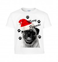 Kids Smiling Santa Pug Christmas T-Shirt