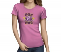 Ladies Hug A Pug T-Shirt (Available in 5 colours)