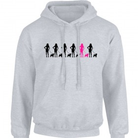 Ladies Pug Chain Hoodie (Available in 11 colours)