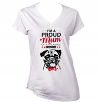Ladies Im A Proud Pug Mum T-Shirt
