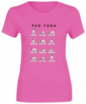 ladies How To Do Yoga Pug Style T-Shirt (Available in 15 colours)