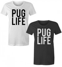 Ladies Pug Life Logo T-Shirt (Available in 2 colours)