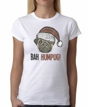 Ladies Bah Hum Pug T-Shirt