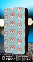 Pugs & Kisses Faux Leather Flip Phone Cover Case