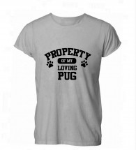 Child'sProperty Of Pug T-Shirt (Available in 4 colours)