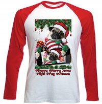 Pug Selfie Unisex Long Sleeved  Christmas T-Shirt