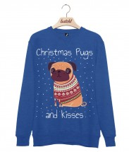 Mens Christmas Pugs & Kisses Sweater (Available in 5 colours)