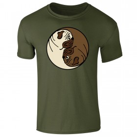 Mens Pug Yin Yang Symbol T-Shirt (Available in 6 colours)