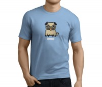 Mens Pixel Pug T-Shirt (Available in 5 colours)