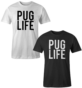 Mens Pug Life T-Shirt (Available in 2 colours)