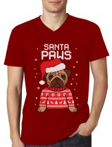 Mens Santa Paws T-Shirt (Available in 4 colours)