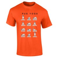 Mens Yoga Pug T-Shirt (Available in 15 colours)