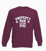 Unisex Property Of My Loving Pug Sweater (Available in 4 colours)