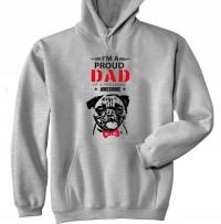Mens I'm A Proud Pug Dad Hoodie