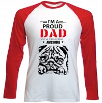 Long Sleeved I'm A Pug Dad T-Shirt
