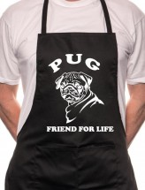 Unisex Pug Friend For Life Apron (Available in 4 colours)