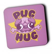 Pug Hug Coaster