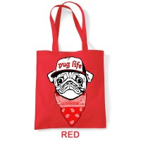 Pug Life Tote Bag (Available in 4 colours )