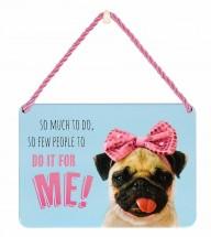 Pug Puppy Hanging Plaque