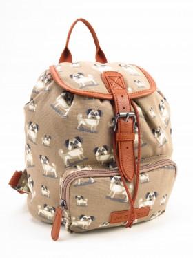 Pug Patterned Rucksack Bag