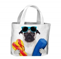 Ready For The Beach Pug Canvas Bag