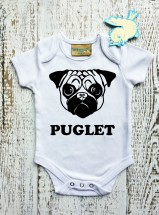 Puglet Baby Grows (Available in Pink,Blue & Neutral )