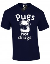 Mens Pugs Not Drugs T-Shirt (Available in 7 colours)