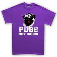 Kids Pugs Not Drugs T-Shirt (Available in 9 colours)