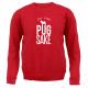 RED FOR PUGS SAKE SWEATER