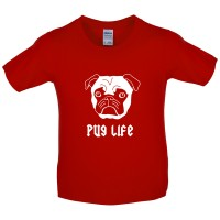 Kids Pug Life T-Shirt (Available in 8 colours)