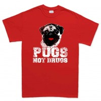 Unisex Pugs Not Drugs T-Shirt (Available in 14 colours)