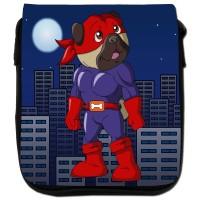 Superhero Pug Shoulder Bag