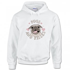 Unisex Pugs & Kisses Hoodie (Available in 3 colours)