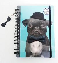 Black Pug A5 Notebook