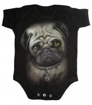 Gothic Pug Baby Grow
