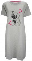Ladies Grey Pug Nightie