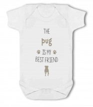 The Pug Is My Best Friend Baby Grow