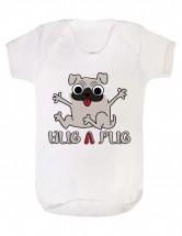 Hug A Pug Baby Grow