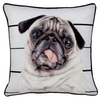 Pug Tongue Out Cushion