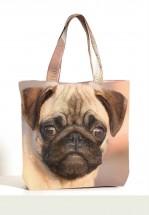 Pug Shoulder/Beach Bag