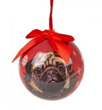Pug Novelty Christmas Red Decoration