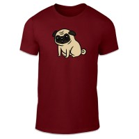 Cute Pug Cartoon Style T-Shirt (Available in 9 colours)